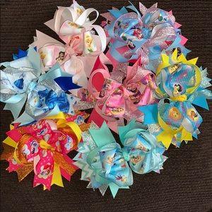 Lot of 7 Disney Princess Hairbows